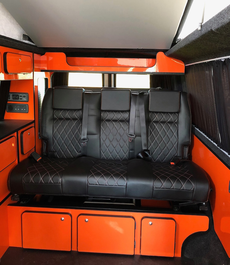 Inside a Camper King van