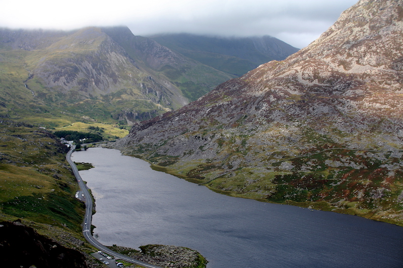 Llyn Ogwen as seen from above