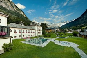 the thermal baths at Pre Saint Didier in the Aosta Valley