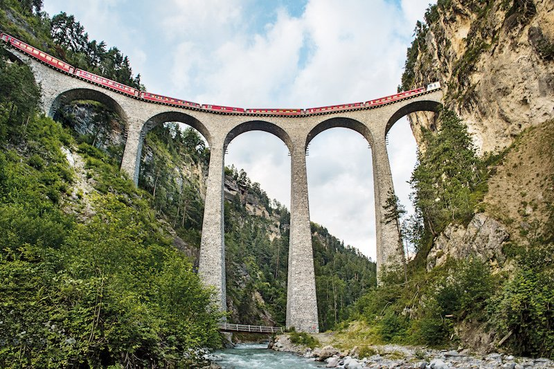 The railway adventure trail, one of the best hikes in Switzerland