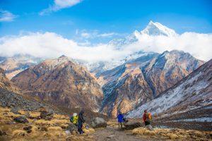 The annapurna circuit of nepal