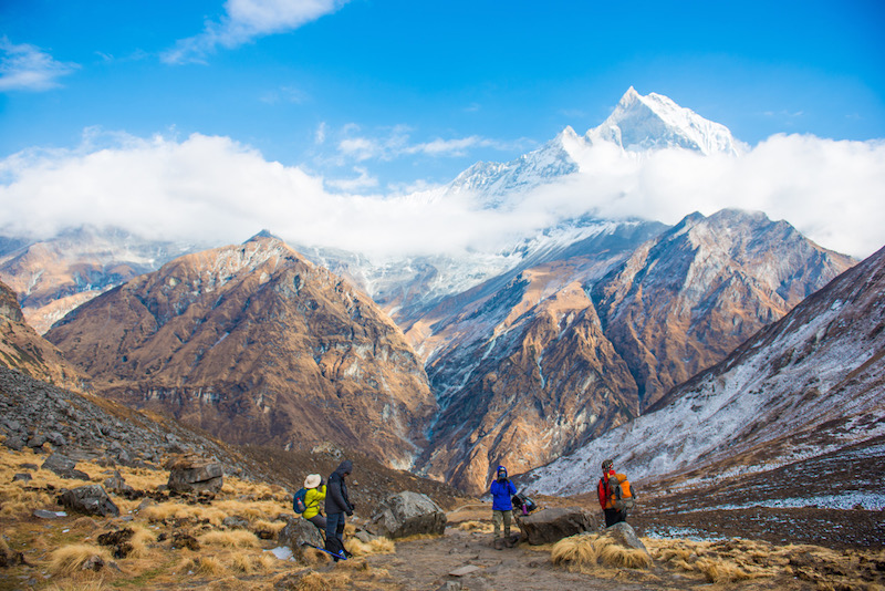 The annapurna circuit of nepal
