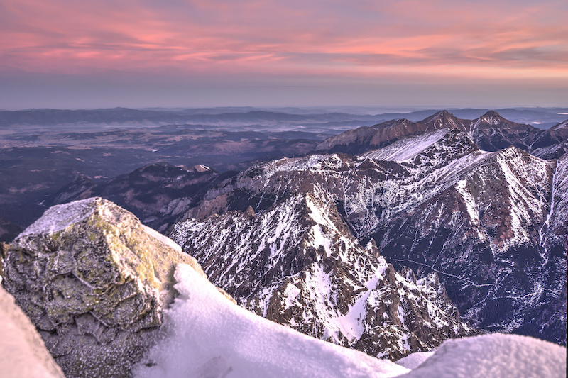 A sunrise at the top of Mount Rysy, Tatra Mountains, most adventurous things to do in Poland