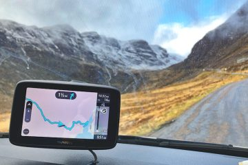 TomTom GO Essential being used in Scotland