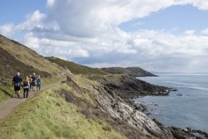 hiking on the gower coast path