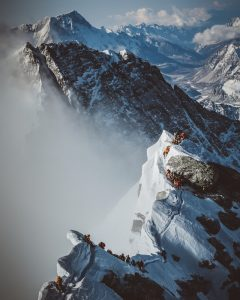 South Summit on Mount Everest