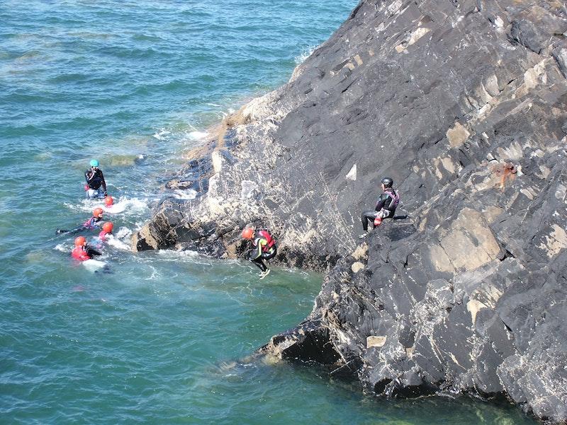 coasteering autumn activities in swansea bay