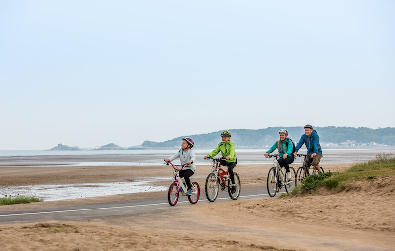 cycling along the beach best autumn activities in swansea bay