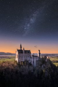 neuschwanstein castle by night
