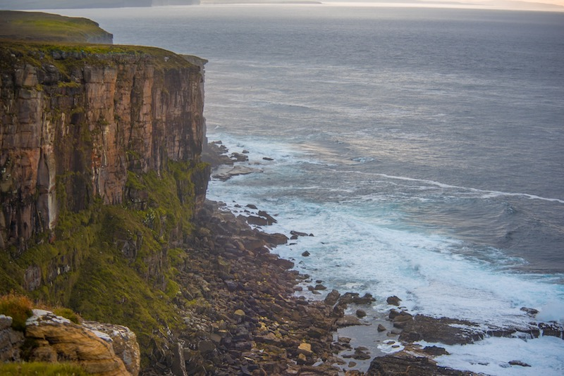 Dunnet head coastline in Scotland, one of the best winter coastal hikes