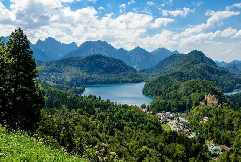 how to spend 72 hours in Bavaria, hike and swim lake alpsee