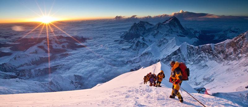 Sunrise at the Balcony on Mount Everest