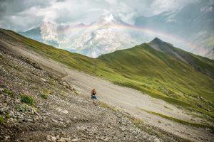 Via Alpina stage 14, rainbow over Kandersteg