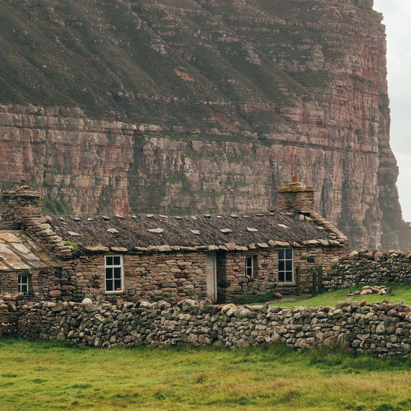 Windswept house on the island of Hoy, Orkney