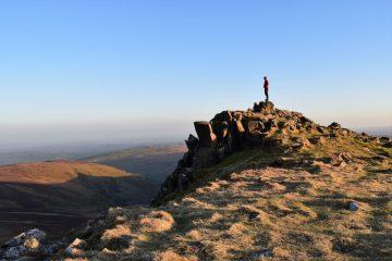 Dusk views from Cadair Berwyn Mountains