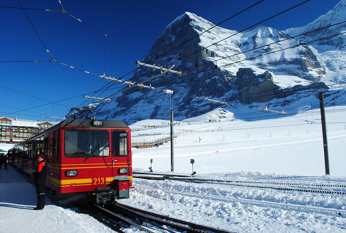 Jungfraubahn Switzerland, most scenic train journeys in the world