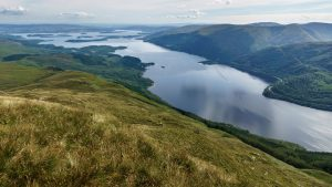 Loch Lomon in Scotland, one of the best kayaking routes in the UK