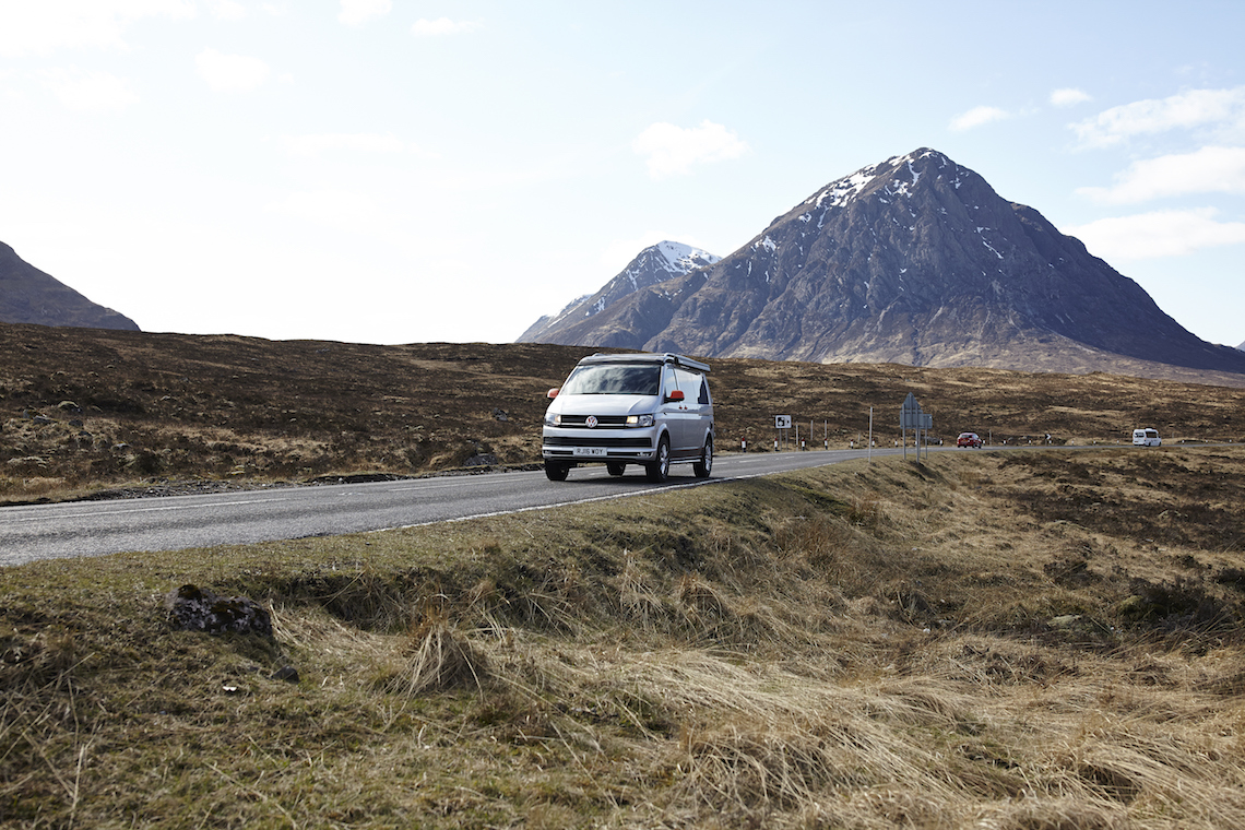 Glen Coe our van on the great british adventure road trip in Scotland