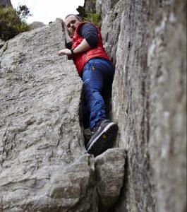 Scrambling Tryfan in Snowdonia