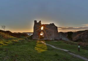Pennard Castle on the Gower Coast Path