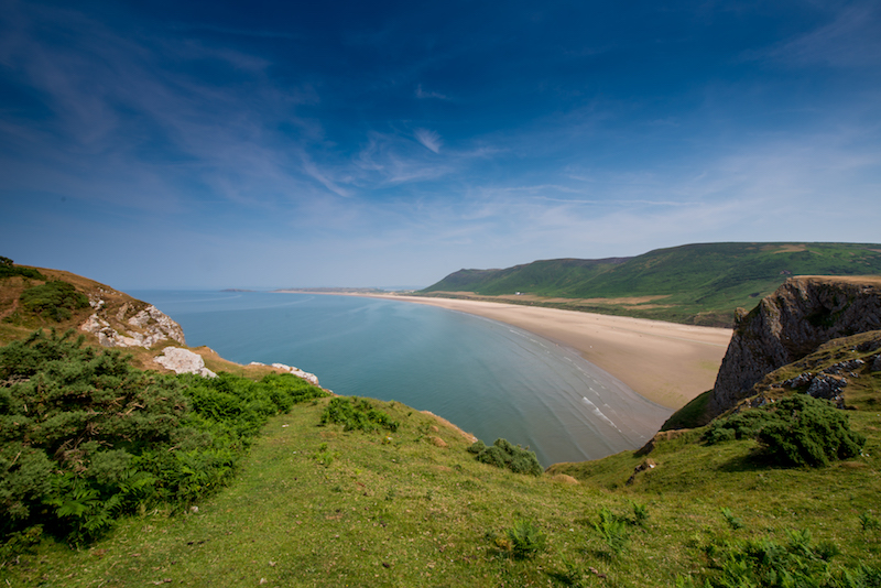 Rhossili Bay Beach on the Gower Coast Path