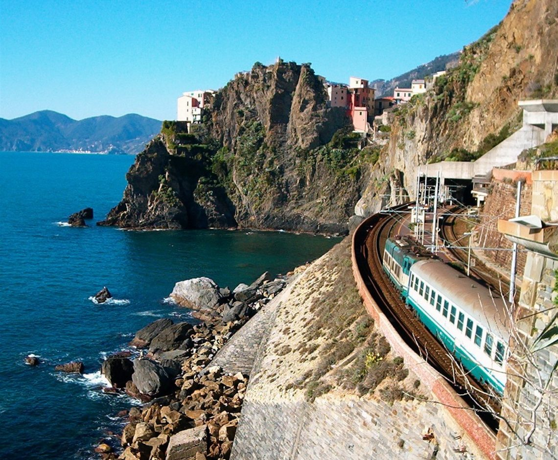 Cinque terre train Italy most scenic train journeys