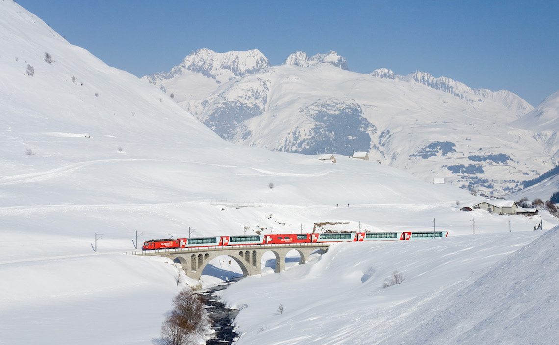 The Glacier Express, Switzerland, most scenic train journeys in europe