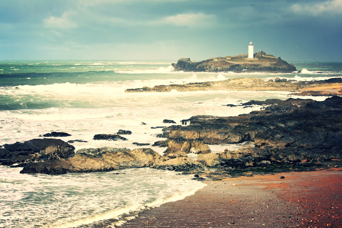 Godrevy lighthouse on one of the best winter walks in Cornwall
