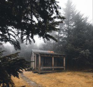 Mountain hut on the Appalachian Trail