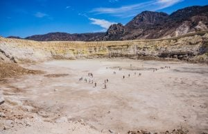 Stefanos crater on volcano, undiscovered adventures in Greece