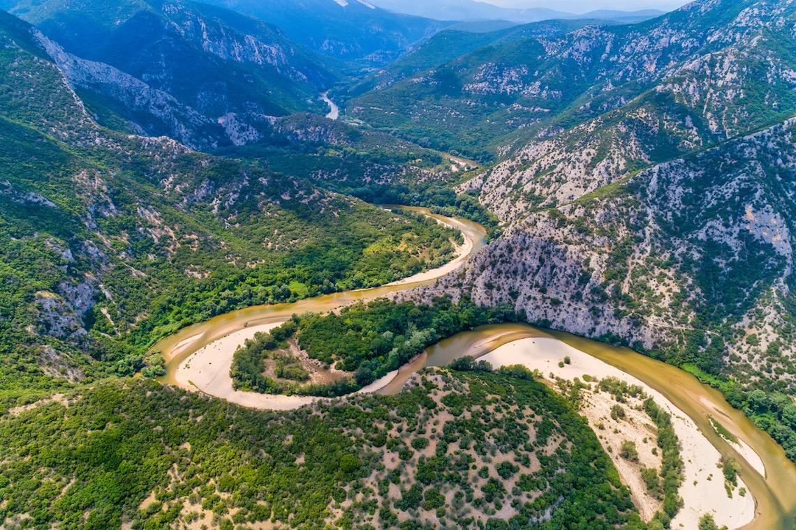 meandering river nestos