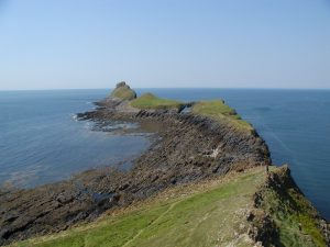 Worms head on the gower coast path