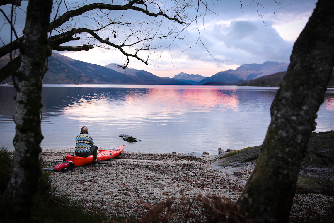 wild camping on the banks of Loch Lomond