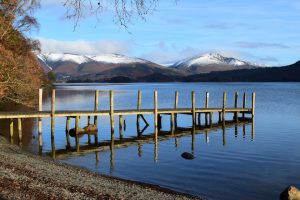 Derwentwater on a crisp, clear winter_s morning on the Cumbria Way
