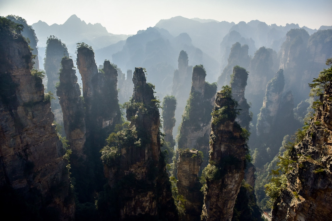 Zhangjiajie mountains china, one of the world's most unique landscapes