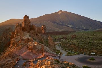 route to the summit of Mount teide