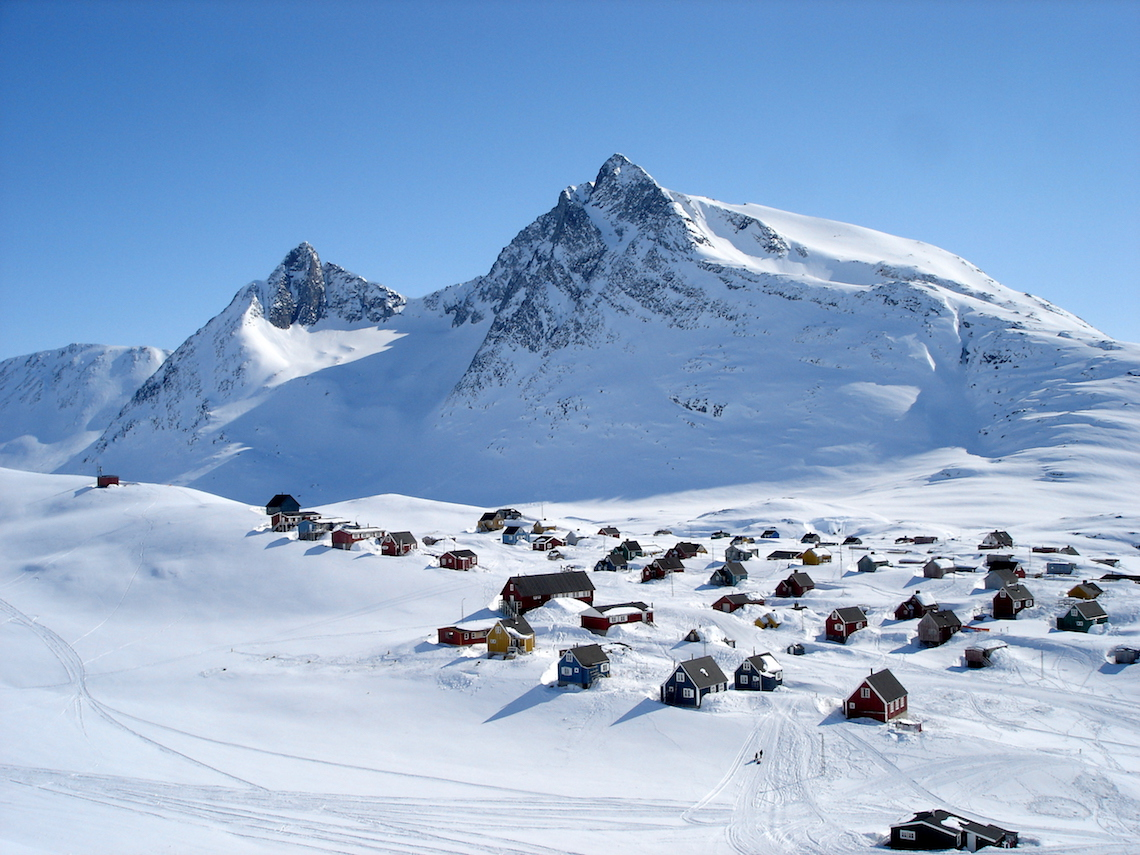 Remote settlement in East Greenland