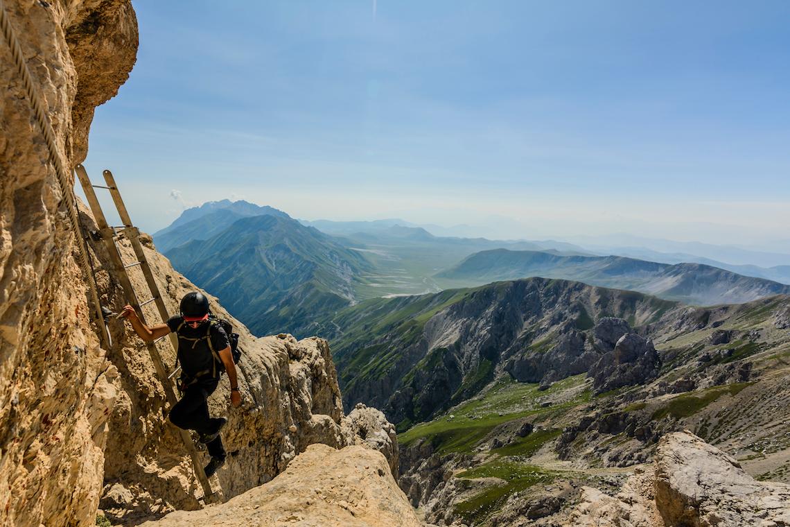 Climbing corno grande adventurous things to do in central Italy