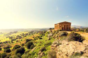 temple of concordia on the italian islands