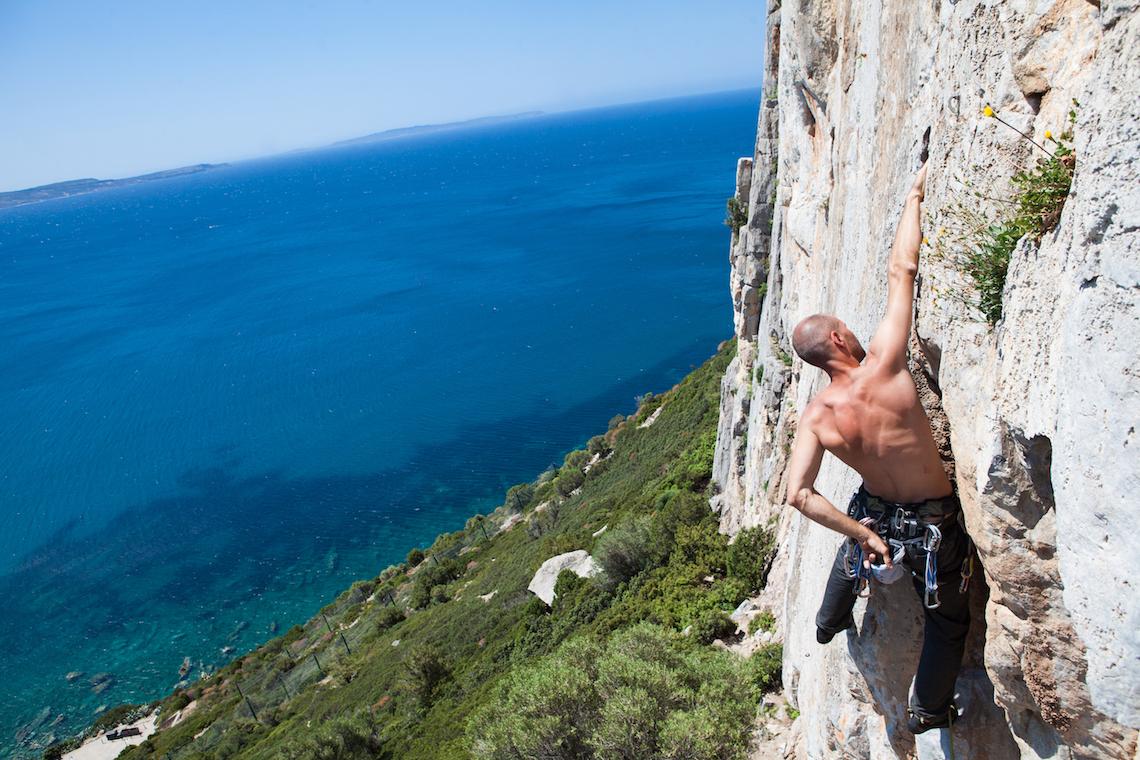 climbing in sardinia italian islands