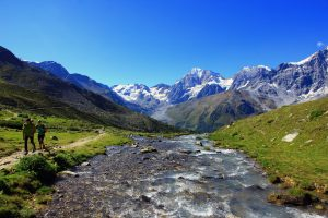 ortler high mountain trail in the italian dolomites