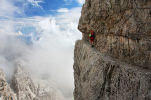 epic via ferrata in the Italian Dolomites