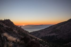 Sunset from mount Teide