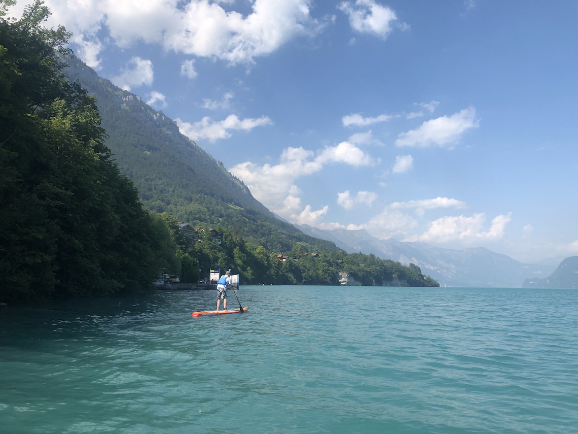 paddle boarding, spending 72 hours in Interlaken