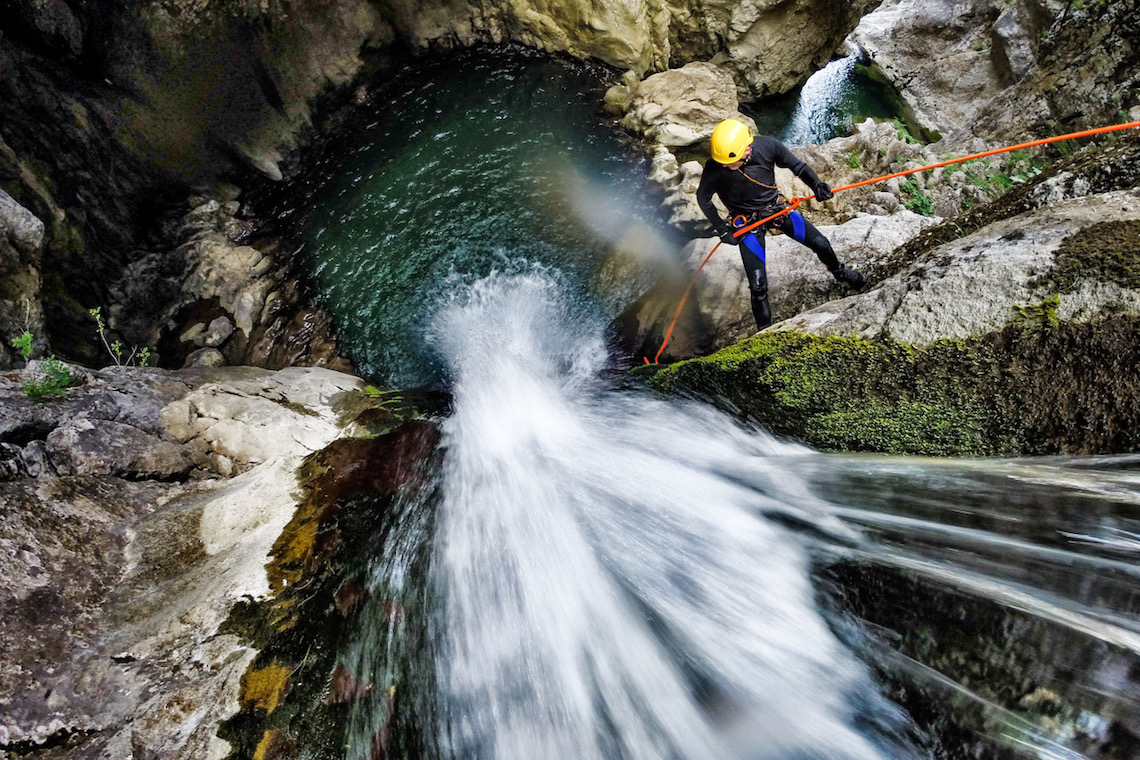 canyoning on 72 hours in interlaken