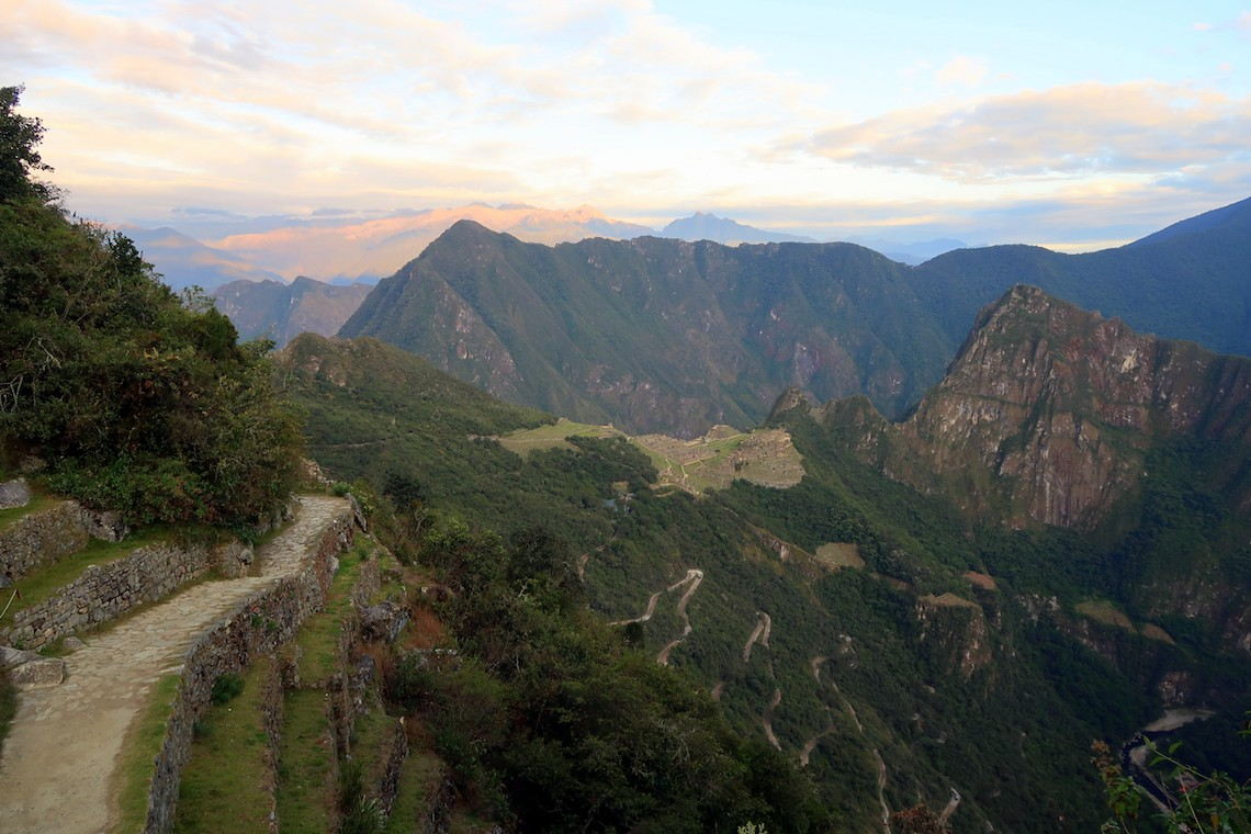 machu picchu from sun gate after hiking the Inca Trail