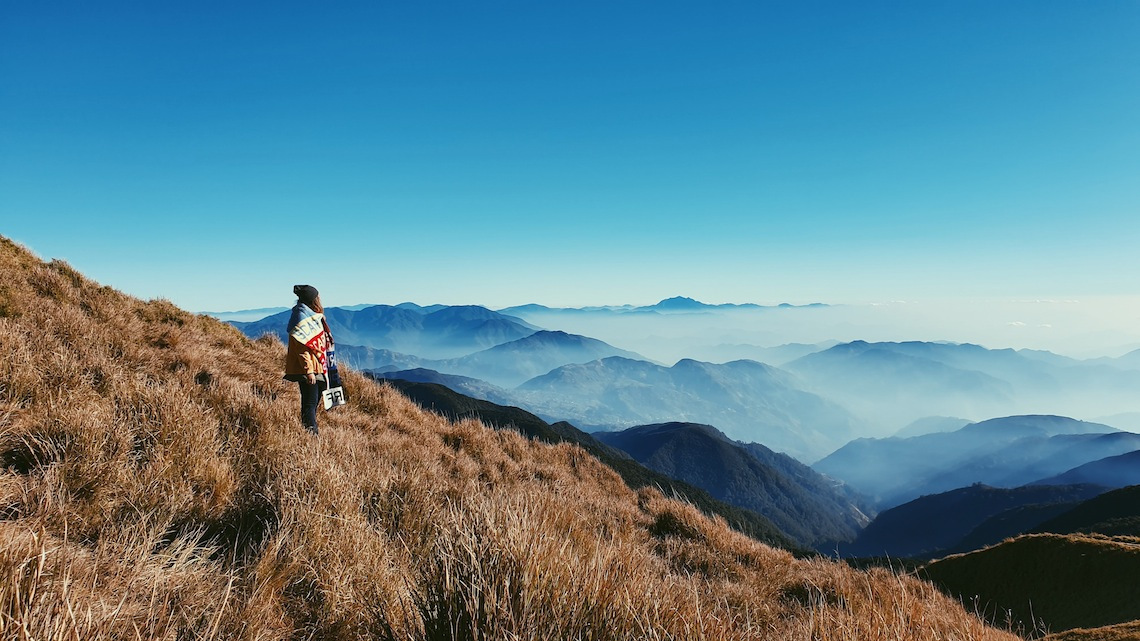 Mount Pulag on the island of Luzon, one of the best islands in the philippines for adventure