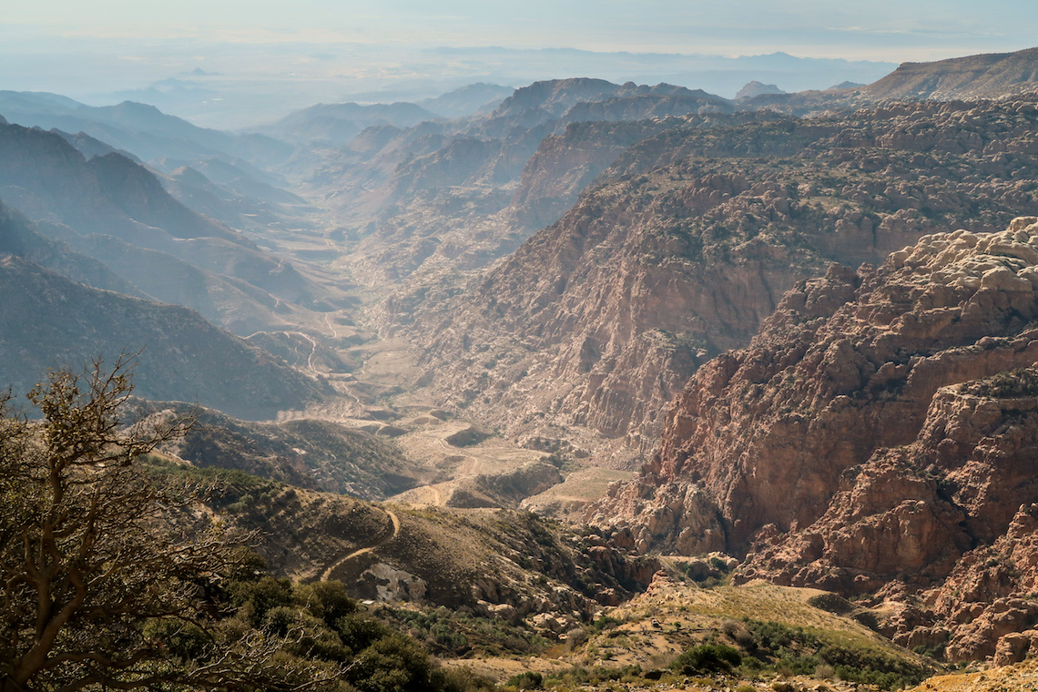 Vast valleys of Jordan on the jordan trail