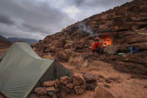 Camping in the desert on the Jordan Trail