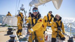 How to sail around the world, people being given training